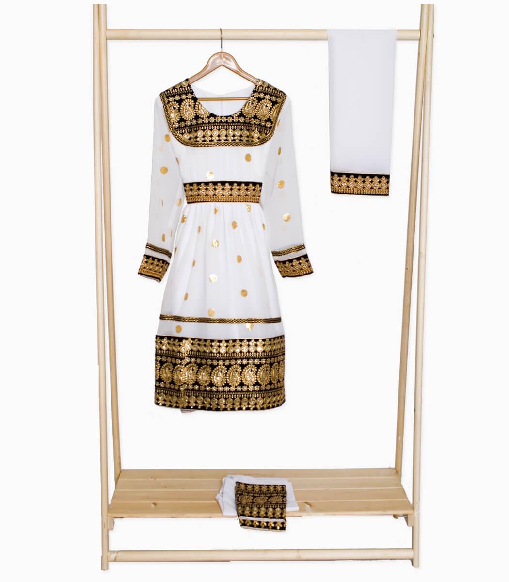 لباس گند افغانی سفید