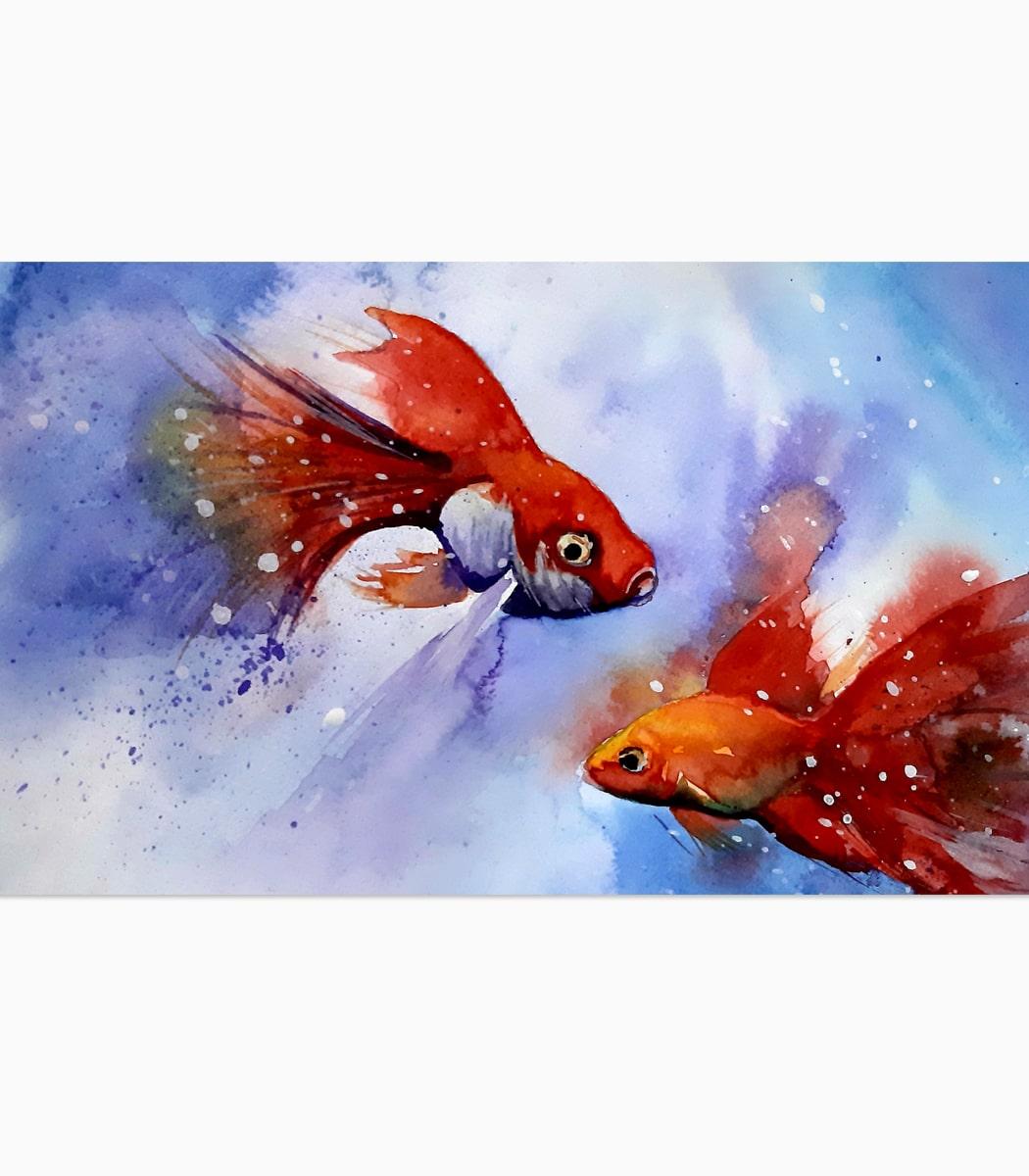 نقاشی تنگ ماهی