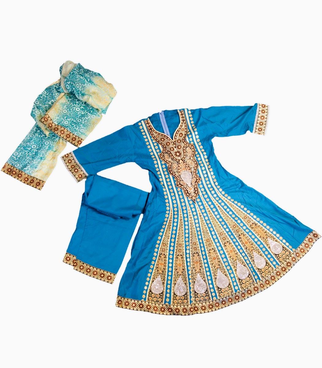 لباس پنجابی نخی
